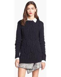 Rachel Zoe - 'felix' Cable Knit Sweater - Lyst