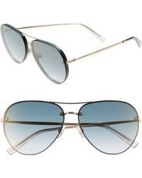 233b5517ca6 Rebecca Minkoff - Gloria2 59mm Aviator Sunglasses - Military Green - Lyst