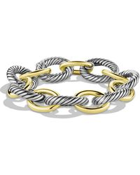 David Yurman - Oval Extra-large Link Bracelet With Gold - Lyst