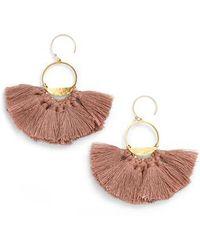 Serefina - Flutter Tassel Earrings - Lyst