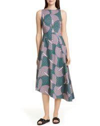 LaDoubleJ - Pina Asymmetrical Hem Midi Dress - Lyst