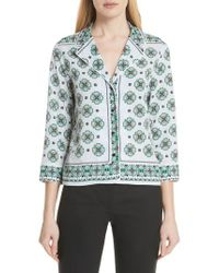 Sandro - Bleu Ciel Print Shirt - Lyst
