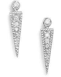 Dana Rebecca - Dana Rebecca Samantha Lynn Diamond Dagger Earrings - Lyst