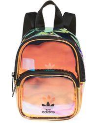 adidas - Ori Mini Holographic Clear Backpack - Metallic - Lyst