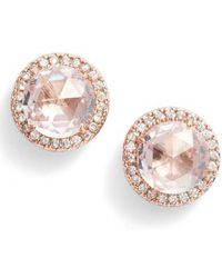 Kate Spade - Bright Ideas Pave Halo Stud Earrings - Lyst