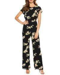Bardot - Rina Floral Jumpsuit - Lyst