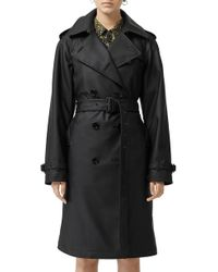 dfdc5015b043 Burberry - Curradine Waterproof Rubberized Trench Coat - Lyst