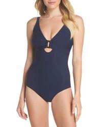 Heidi Klein - D-g Rectangle Underwire One-piece Swimsuit - Lyst