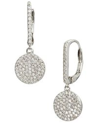 Nordstrom - Pave Bar & Disc Drop Earrings - Lyst
