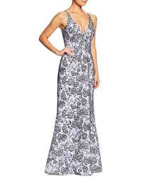 Dress the Population - Karen Sequin & Lace Trumpet Gown - Lyst