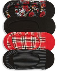 Sockart - 4-pack No Show Socks, Red - Lyst