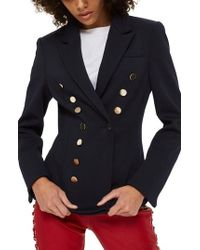 TOPSHOP - Golden Button Double Breasted Jacket - Lyst