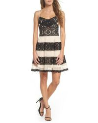 Foxiedox | Ophelia Two-tone Lace Fit & Flare Dress | Lyst