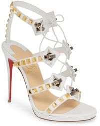 714a23cc7354 Christian Louboutin - Multiplaticool Studded Gladiator Sandal - Lyst