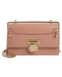 Balmain - Glace Leather Box Shoulder Bag - Lyst