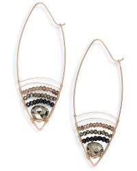 Nashelle | Cabana Golden Sand Oblong Hoop Earrings | Lyst