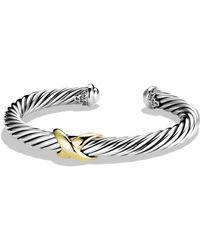 David Yurman - X Bracelet With 14k Gold - Lyst
