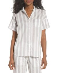 Maison Du Soir - Gigi Stripe Pajama Top - Lyst