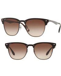 Ray-Ban - Blaze Clubmaster 50mm Sunglasses - - Lyst