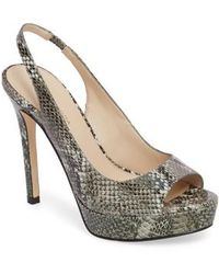 Pelle Moda | Oana Slingback Platform Sandal | Lyst