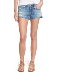 Rag & Bone - Destroyed Cutoff Denim Shorts - Lyst