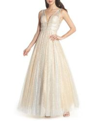 Mac Duggal - Sequin Illusion Neck Gown - Lyst