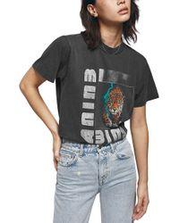 Anine Bing - Wild Cat T-shirt - Lyst
