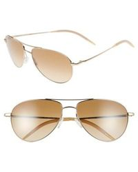 Oliver Peoples - 'benedict' 59mm Gradient Aviator Sunglasses - Lyst