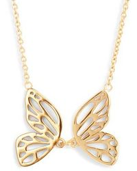 Olivia Burton - Butterfly Pendant Necklace - Lyst