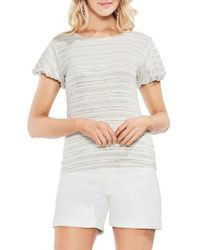 Vince Camuto - Striped Short Sleeve Top - Lyst