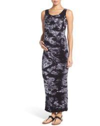Tees by Tina - 'lattice' Tie Dye Textured Maternity Maxi Dress - Lyst