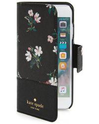 Kate Spade - Cedar Street Faux Leather Iphone 7/8 Folio Case - Lyst
