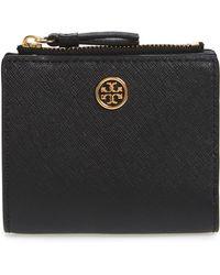 Tory Burch - Mini Robinson Wallet Leather Bifold Wallet - - Lyst