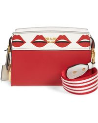 893477dc770f Prada - Esplanade Saffiano & City Calfskin Shoulder Bag - Lyst