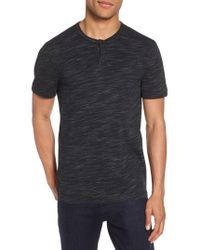 Calibrate - Space Dyed One-button Henley T-shirt - Lyst