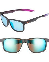 d7e6f5de1a Nike - Essential Chaser 57mm Reflective Sunglasses - Lyst