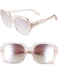 e91756c74fd3 Lyst - Tom Ford Pink Sandra Butterfly Frame Sunglasses in Pink