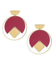 Isabel Marant - Seriously Square In Circle Earrings - Lyst