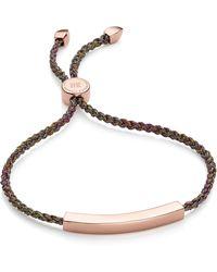 Monica Vinader - Engravable Linear Friendship Bracelet - Lyst