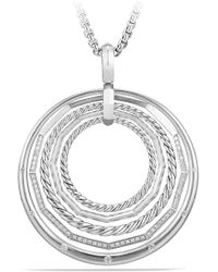 David Yurman - Stax Large Pendant Necklace With Diamonds - Lyst