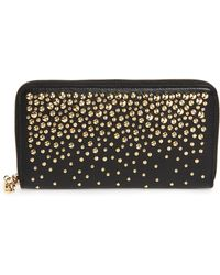 Alexander McQueen - Studded Leather Continental Wallet - - Lyst