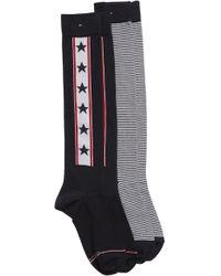 Tommy Hilfiger - 2-pack Knee High Socks - Lyst