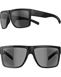 adidas - 3matic 60mm Sport Sunglasses - Shiny Black/ Gray - Lyst