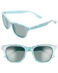 b05a1edc5c Lilly Pulitzer - Lilly Pulitzer Maddie 52mm Polarized Mirrored Sunglasses - Catch  The Wave  Green