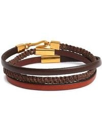 Caputo & Co. - Leather Wrap Bracelet - Lyst