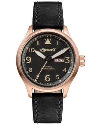 INGERSOLL WATCHES | Ingersoll Bateman Automatic Leather Strap Watch | Lyst