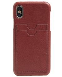 Madewell - Card Slot Leather Iphone X Case - Burgundy - Lyst