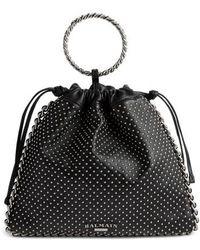 Balmain - Studded Leather Bracelet Backpack - - Lyst