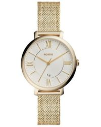 Fossil - Jacqueline Mesh Strap Watch - Lyst