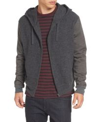 French Connection - Hooded Zip Sweater - Lyst